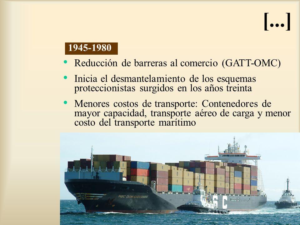 [...] Reducción de barreras al comercio (GATT-OMC)